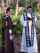 Frank and Fr. Gabe Cummings wearing stoles