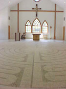 Marble labyrinth at King of Peace