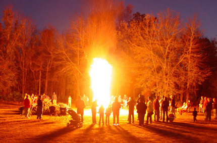 click to find out about our pagan-looking Burning of the Greens