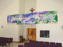 Banner in the sanctuary