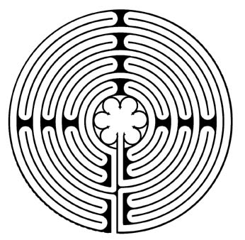 Chartres labyrinth as found at King of Peace