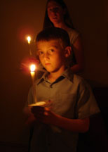 candle light worship at the Easter Vigil