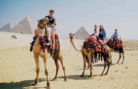 The Logues vacationing in Egypt